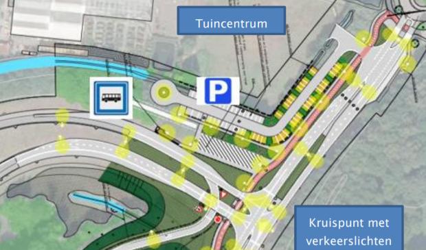 <p>Aan de westzijde van de A27 komt ter hoogte van de HOV-bushalte een P+R-terrein met fietsenstalling. </p>