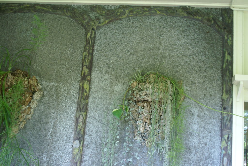 De serre-muur van Jörn en Lia Copijn in Groenekan. (foto fam Copijn) Foto:  © De Vierklank