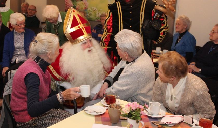 Sinterklaas voert in Dijckstate gesprekken op niveau.