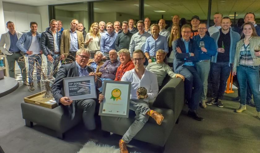 Startende ondernemer van het jaar. Erwin Wever van Gilde Personeel. (Foto Hans Lebbe)