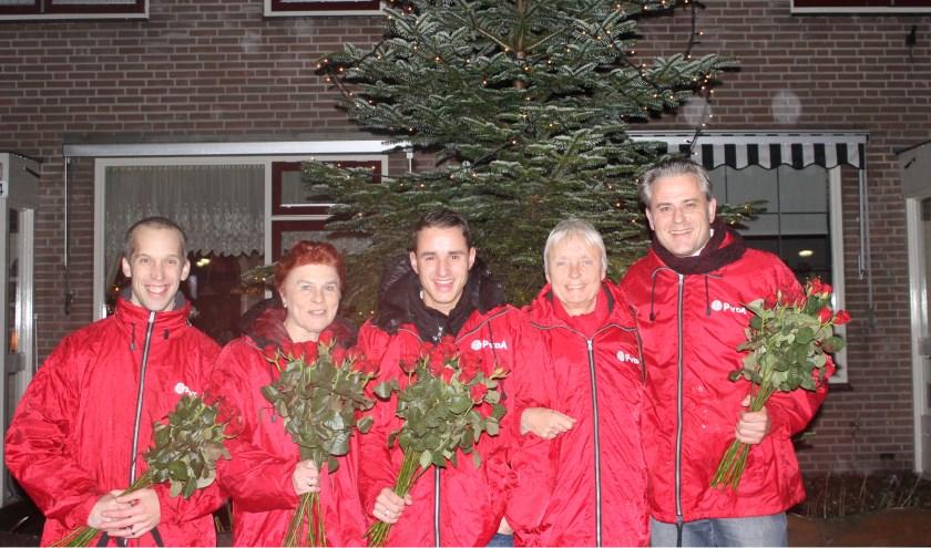 Het PvdA wijkteam op bezoek in de Leijen.