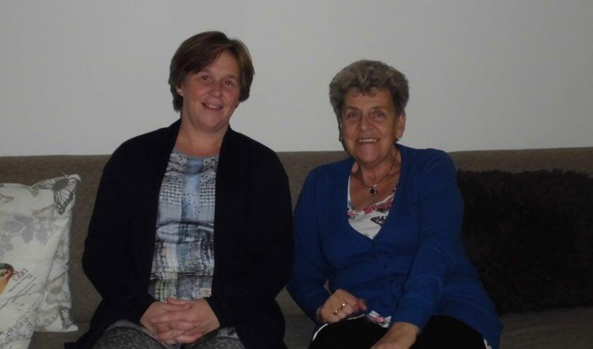 Twee van de initiatiefnemers: Links Ellen Bousché, rechts Corrie Bosman.
