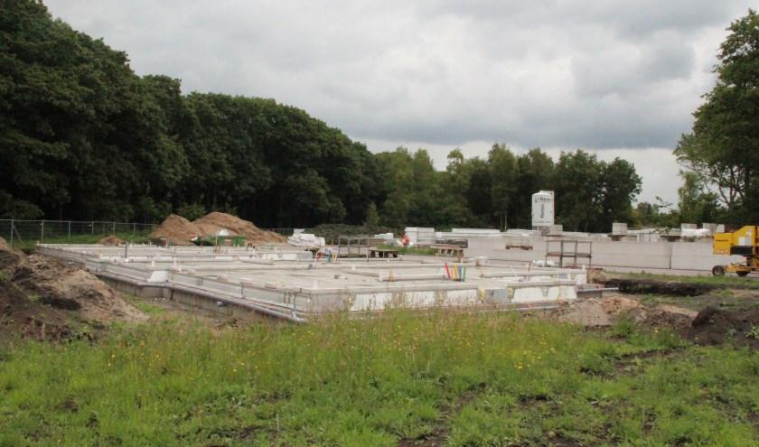 De bouw van 12 woningen Bosrijck, De Leijen Zuid te Bilthoven is in volle gang.
