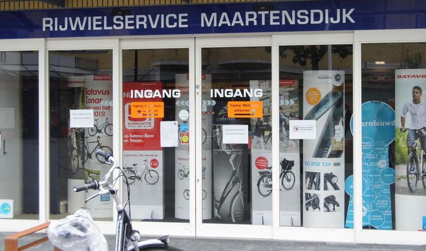 De deuren van de Rijwielservice Maartensdijk zijn definitief gesloten.