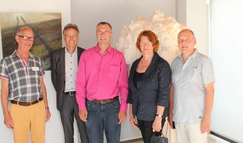 V.l.n.r. Meep van Kampen, Hans Mieras, Burkhard Hoppe, Truus van den Heuvel en Christian Tiepold.