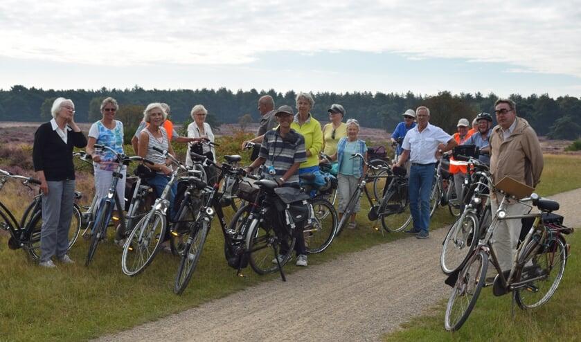 Tweemaal per maand fietst Jan ook nog in groepsverband.