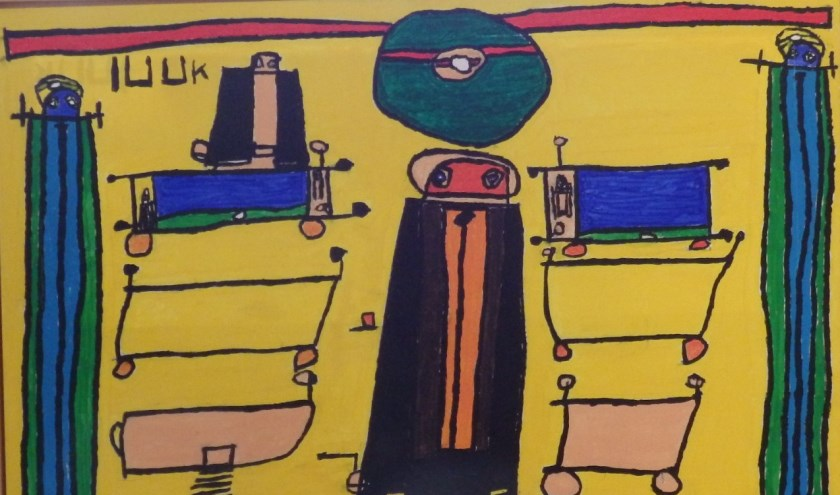 Luuk's schilderijen zijn altijd een weergave van iets dat Luuk heeft meegemaakt of op tv heeft gezien. Aan de schilderijen voegt hij ook details toe zoals een luidspreker, een microfoon of vlaggen.