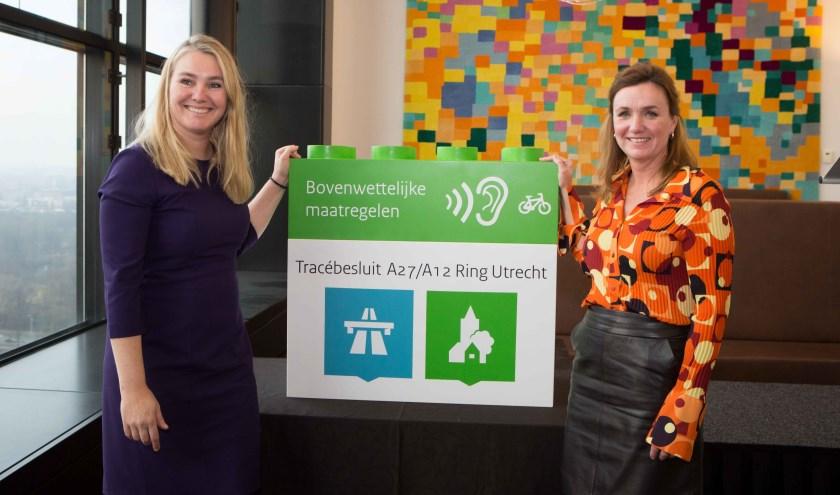 Minister Schultz van Haegen en gedeputeerde Verbeek-Nijhof bouwen samen aan een bereikbare en leefbare regio Utrecht.