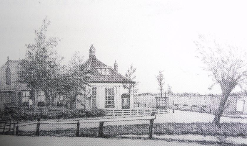 Het tolhuis omstreeks 1835