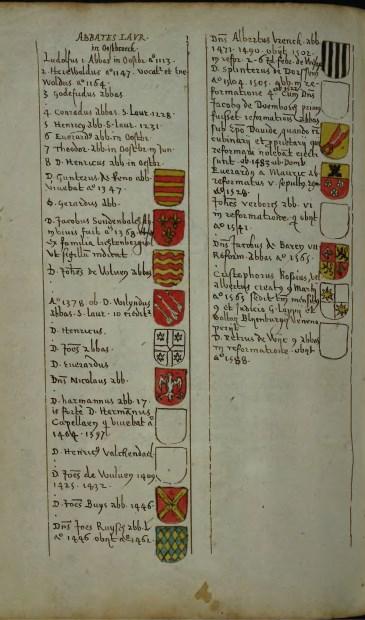 Vermelding van het begin van Oostbroek in 1113 in Van Buchells Monumenta. Utrechts Archief.