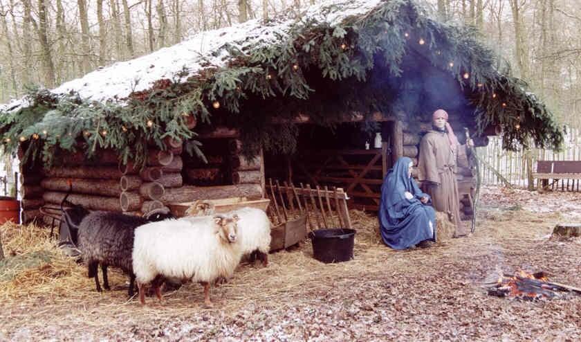 De kerststal op landgoed Beerschoten is een bezoekje waard.