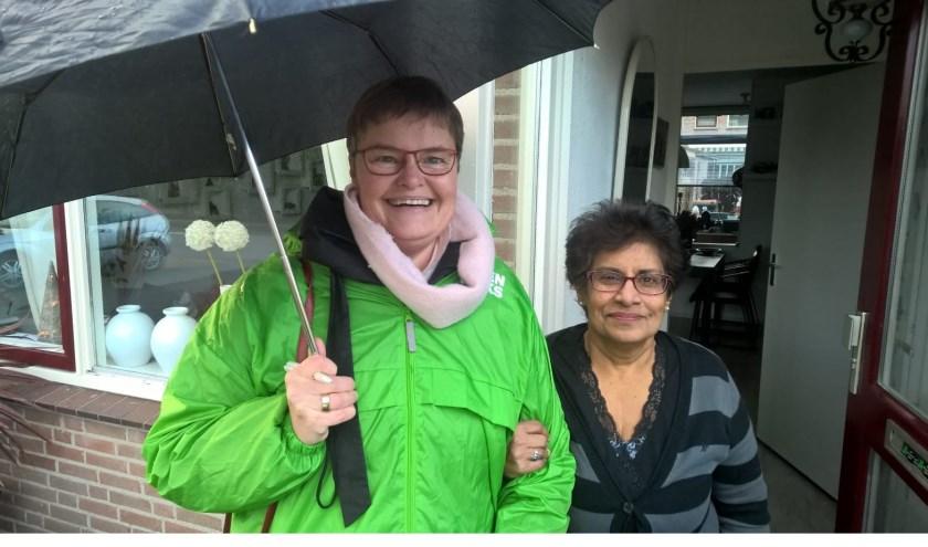 Ook wethouder Anne Brommersma mee de wijk in.
