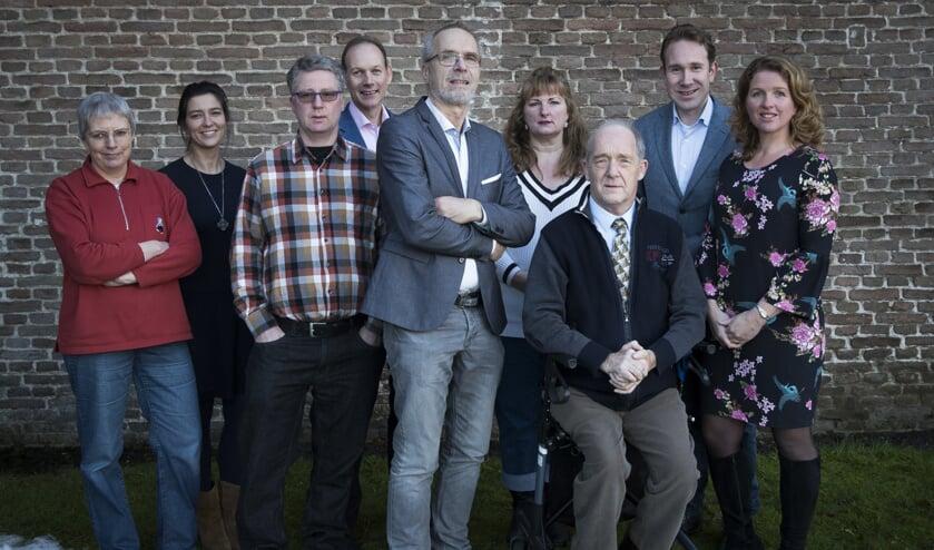 V.l.n.r. Irene Elsevier (8e plaats, Bilthoven), Corina Nagel (6e, Westbroek), Anco de Rooij (3de De Bilt), Martin van der Grift (9e, Bilthoven), Theo Aalbers, Michelle Schuurman, Nico Jansen (11e, Maartensdijk), Cornelis Kronenburg (7e, Maartensdijk), Judith de Waal (4e, Maartensdijk). Diederick van Dalen (5e, Groenekan) en Daniel van Utrecht (10e, Maartensdijk) ontbreken op de foto.