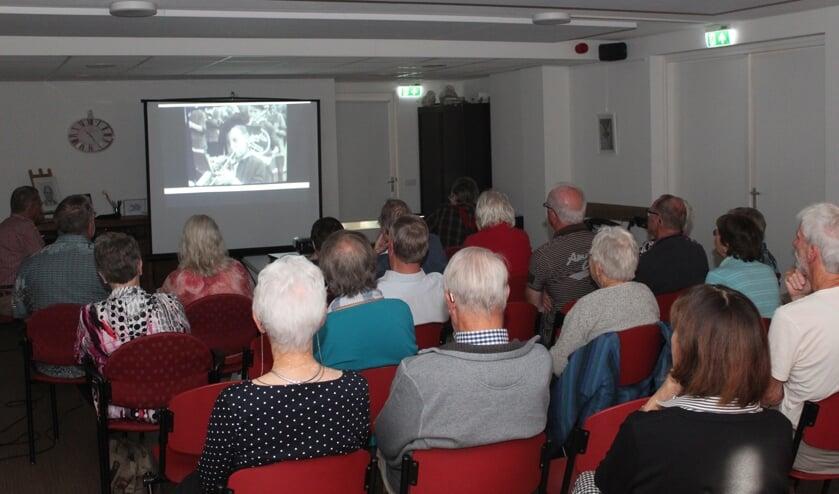 Er was ruime belangstelling voor de filmvoorstelling op 15 oktober.