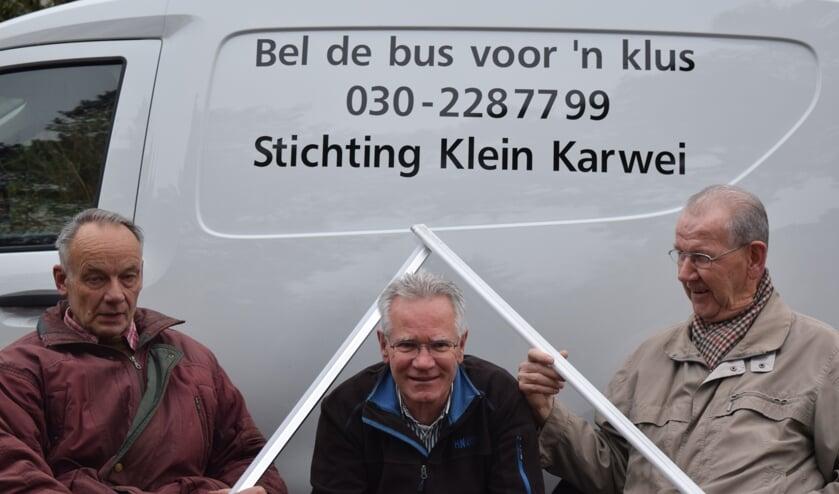 Kasper Hamster, Jeroen de Groot en Wim Hugens van de klussenbus.