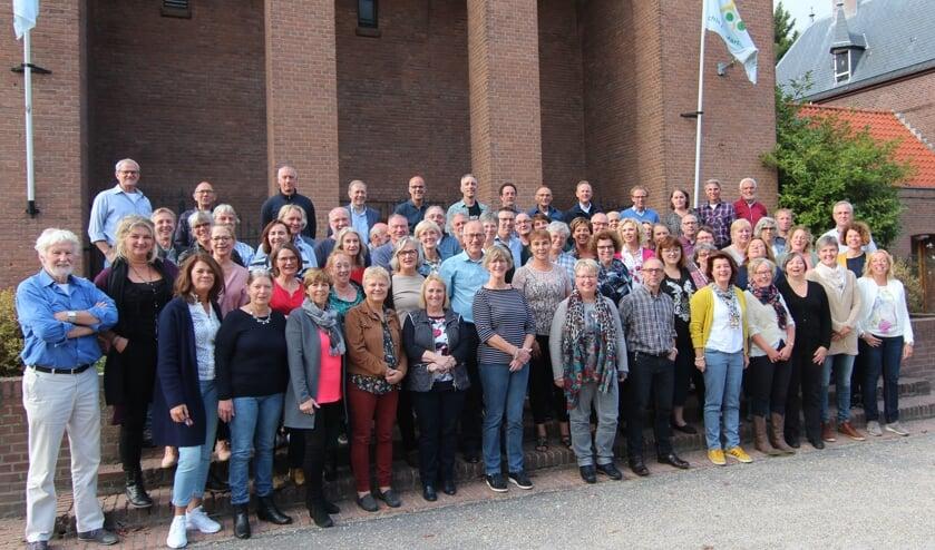 Plm. 65 (van de 85) koor- + comboleden waren zaterdag naar De Bilt terug van plm. 29 jaar weggeweest.