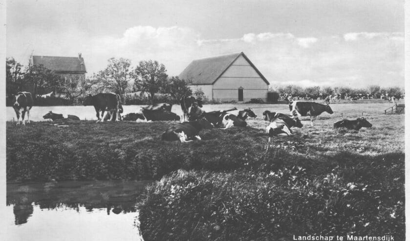 Tot 1964 heeft het Wilhelminagebouw als dorpshuis gefunctioneerd. In 2003 is het afgebroken. Foto genomen vanaf (afgebroken) perceel Dorpsweg 57 toont de oostelijke (achter-)gevel ervan. [foto uit digitale verzameling van Rienk Miedema]
