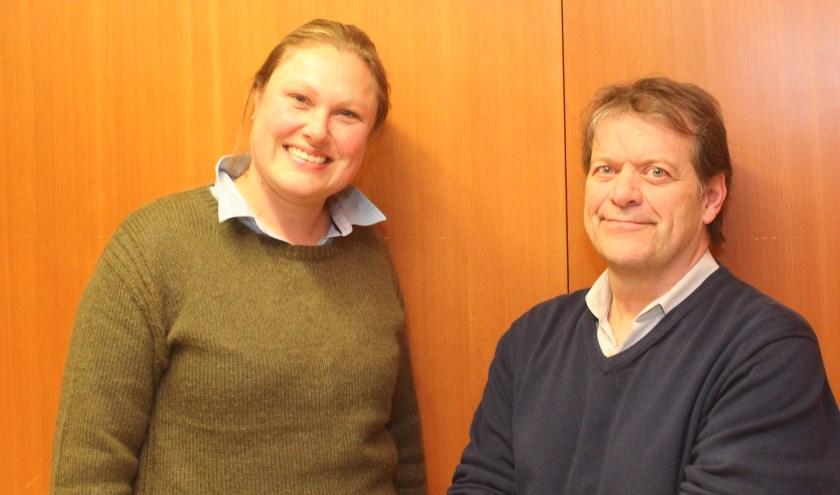 Het lijsttrekkers-duo Jette Muijsson en Pim van de Veerdonk.