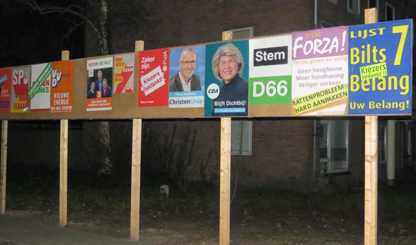 Na een intensieve campagne werden de kiezers bedankt.