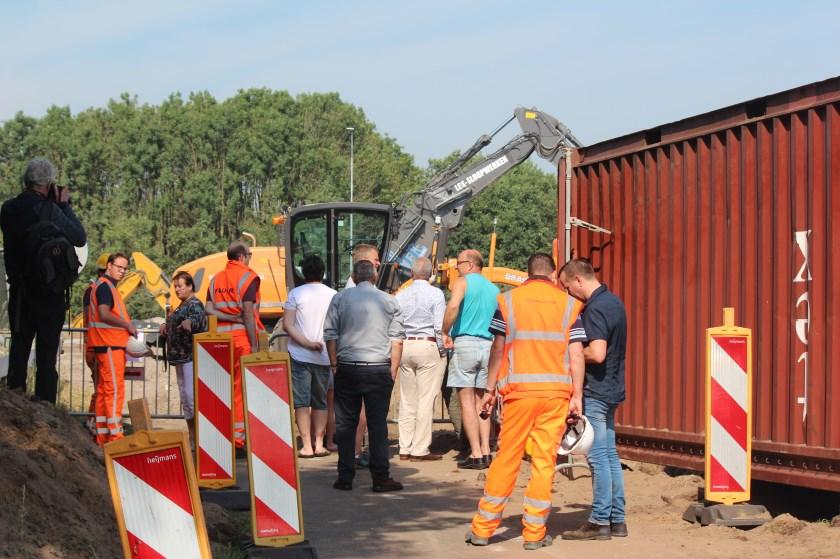 Tijdens de sloop van het de oude aansluiting Bilthoven was er de mogelijkheid om te komen kijken bij de werkzaamheden.