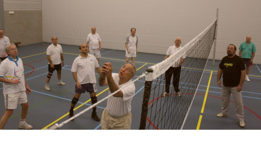 Volleybal is de favoriete beweegactiviteit bij de Hart en Vaat Beweeggroep