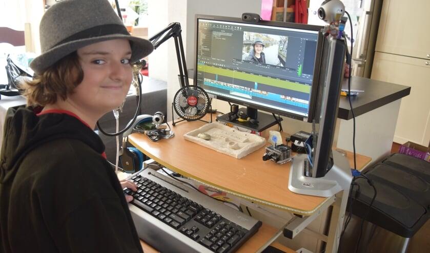 Al vanaf zijn zevende jaar maakt Sven van der Berg filmpjes op YouTube