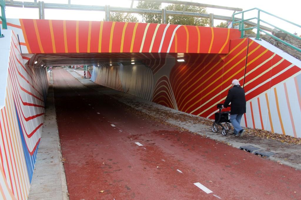 Vanaf donderdag 7 november mochten de eerste fietsers en voetgangers door het tunneltje. Een week later is de officiële opening. [foto Reyn Schuurman]  © De Vierklank