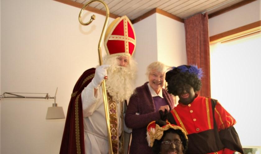 Sinterklaas op visite in Maartensdijk.