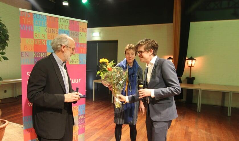 Bloemen voor Pieter Kramers.
