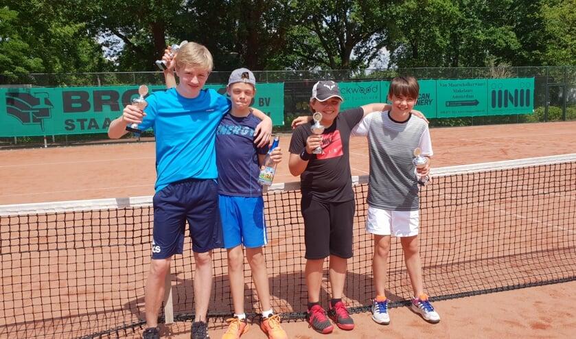 V.l.n.r. Mats de Bruin, Job van de Zand, Tommy Floor, Timo van Beusekom.