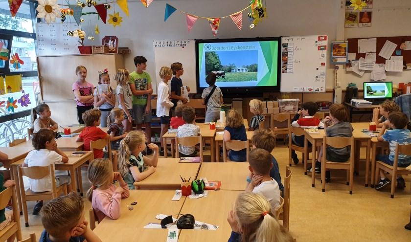 Leerlingen van groep zeven vertellen enthousiast over hun ervaringen bij Boerderij Eyckenstein.