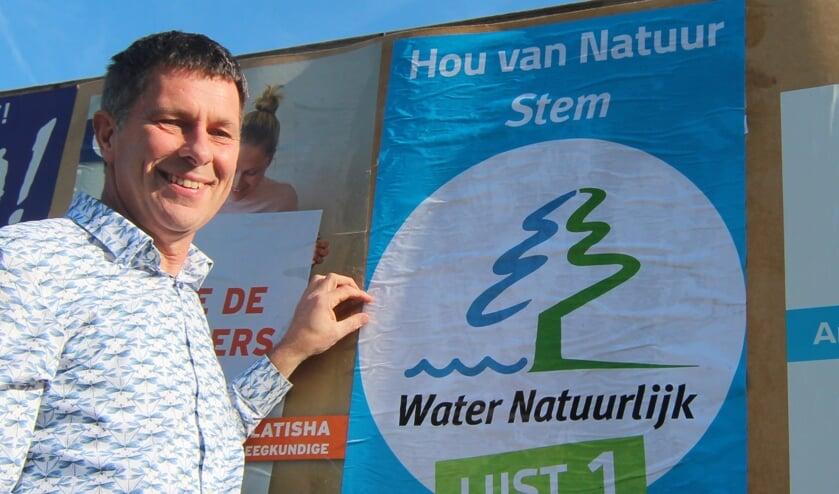 Diederik van der Molen actief in waterschaps-verkiezingstijd.