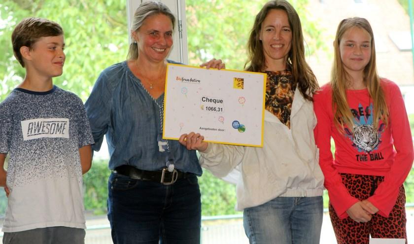 De Patioschool haalde € 1066 euro voor de bijen.