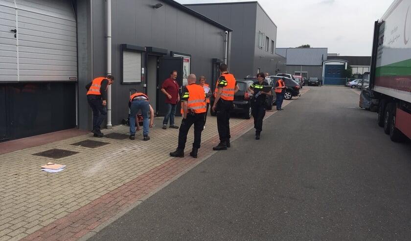 De meeste bedrijven zijn op deze manier bezocht door een team van diverse specialisten. (foto gemeente De Bilt)