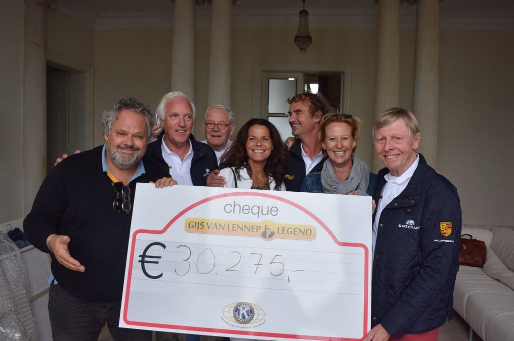 In 2018 werd er 30.275 euro opgehaald voor het goede doel. Op de flanken (l) Bas van Werven en (r) Gijs van Lennep.  © De Vierklank
