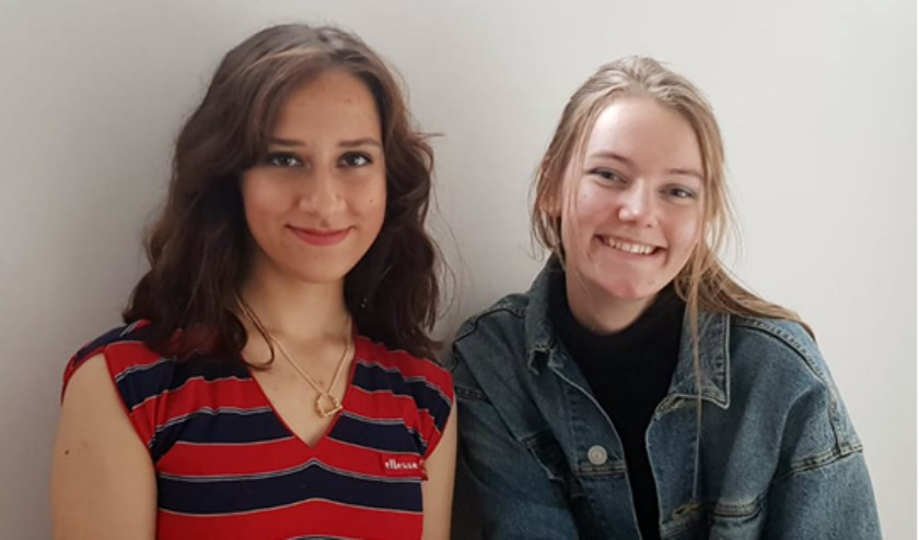 Robin en Nina van de Werkplaats organiseren mede de eerste Biltse KledingRuilbeurs. (foto: @Aranka Mulder)