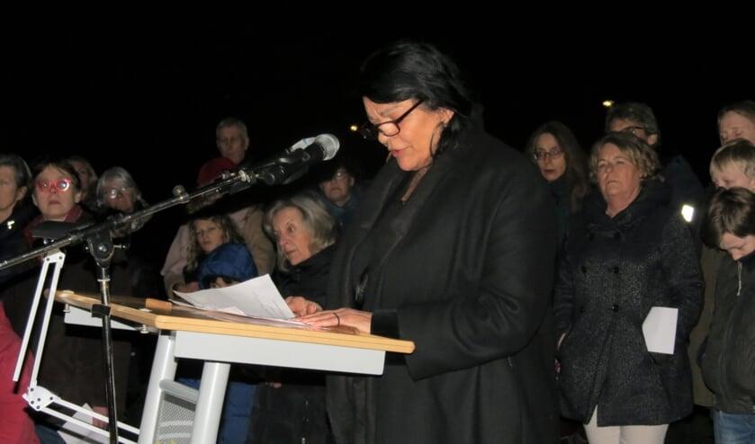 Leila Weiss hield op 27 januari een indrukwekkende toespraak.