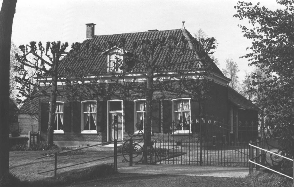 Een foto van de Alphenhof in 1965 uit de digitale verzameling van Rienk Miedema.  © De Vierklank