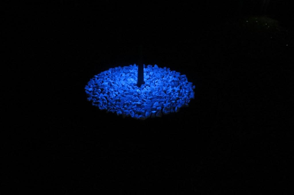 Het monument Levenslicht dat tot en met 31 januari op het gazon van Jagtlust ligt.  © De Vierklank
