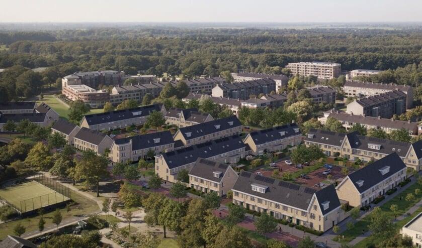 In Hof van Bilthoven worden 33 huurwoningen voor SSW gerealiseerd naast 72 koopwoningen.