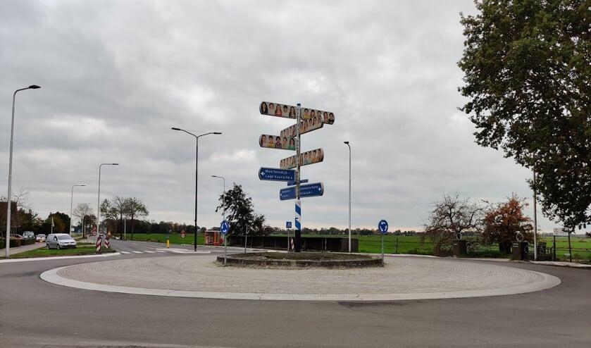 De rotonde moet hét visitekaartje van Maartensdijk worden.