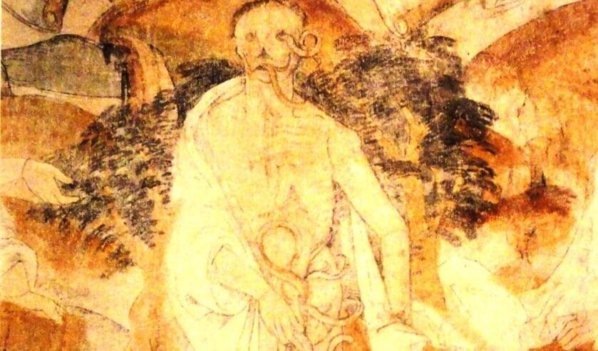 Anne Doedens: 'De schilderingen van Westbroek zijn m.i. na 1481 geschilderd, toen de dorpelingen nog onder de indruk waren van dit bloedig op hun grond uitgevochten deel van de Hoekse en Kabeljauwse twisten. Op deze schilderingen van de 'drie doden en de drie levenden' is de Dom duidelijk te zien. [foto's Henk van de Bunt]
