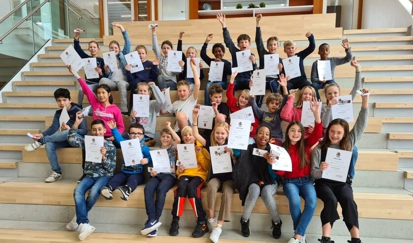 Alle leerlingen van groep 8 zijn geslaagd voor hun opleiding tot mediator.