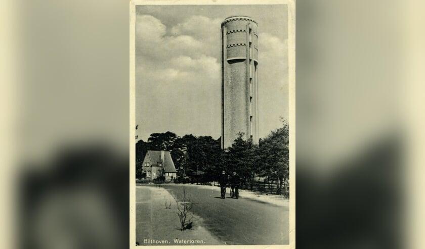 Dewatertoren inBilthovenis gebouwd in1926-1927. [foto Henk van de Bunt]