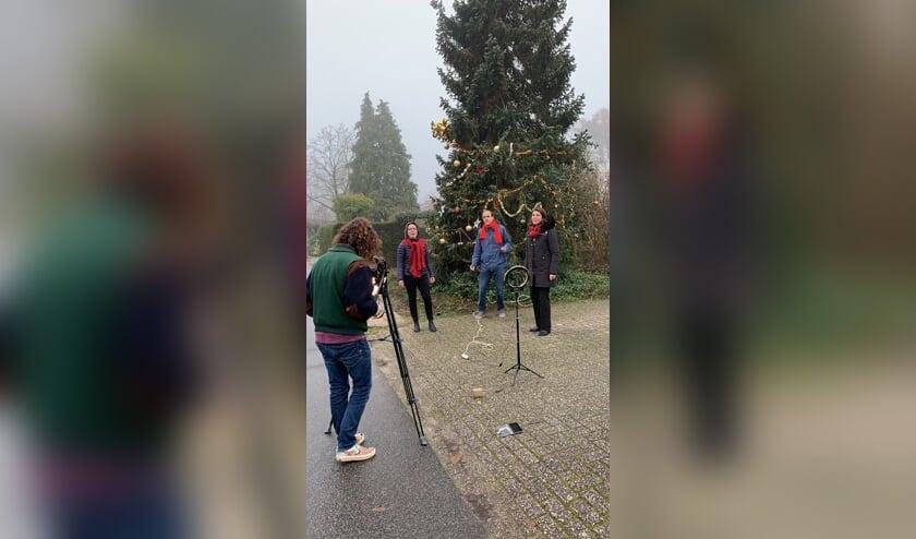 Impressie van 'the making of' van de kerstclips van K'zz voice