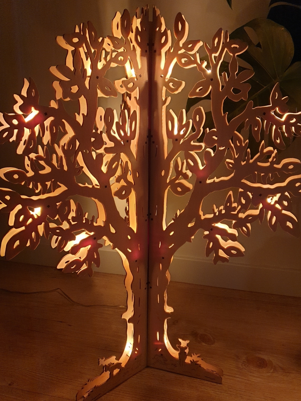 FSC-houten alternatief voor kerstboom.