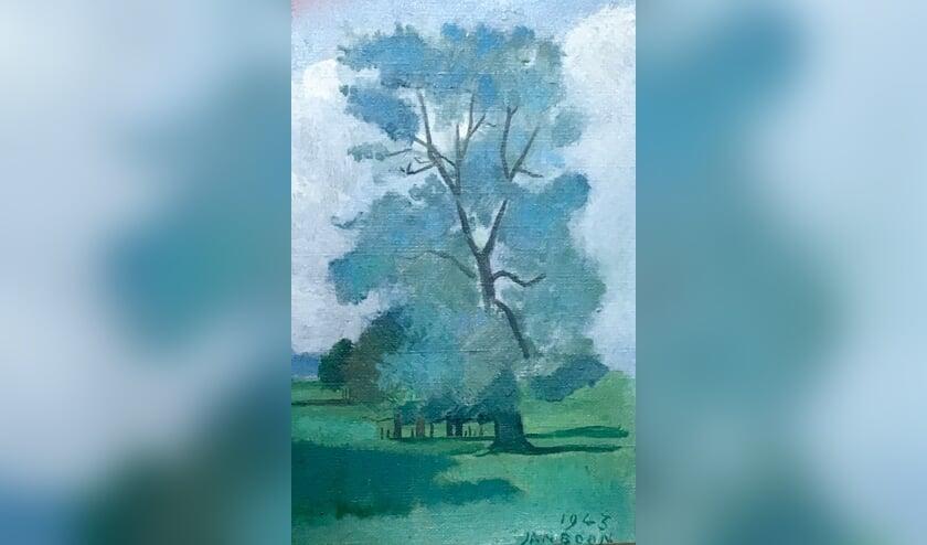Uitsnede van het schilderij van J.J.M. Baronesse van Hardenbroek van Lockhorst door Jan Boon 1943, dat hangt in Huize Houdringe.