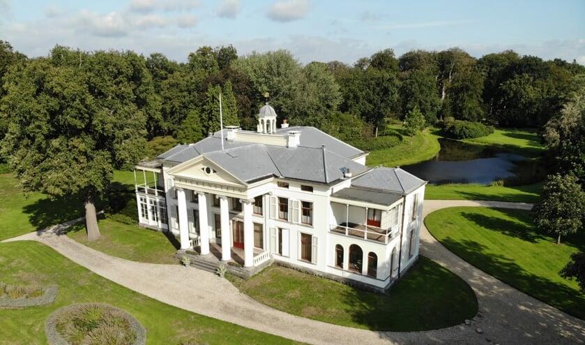 Een drone-opname van Landgoed Eyckenstein. (foto Frank Mulder)