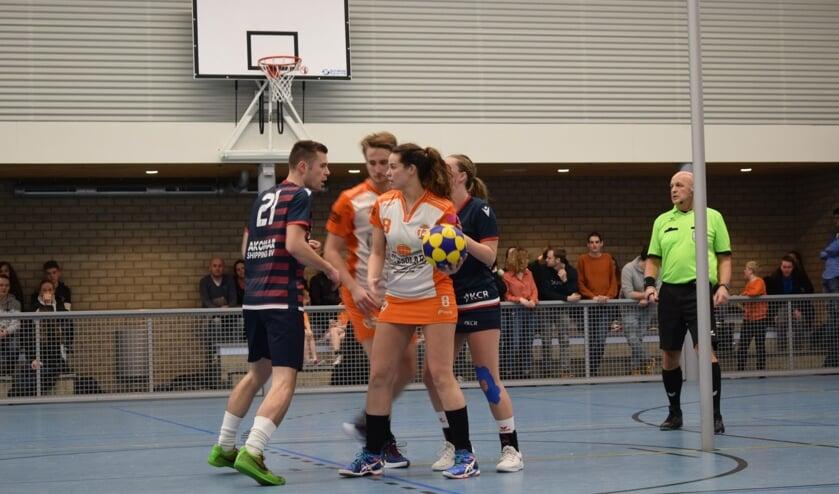 Jesse van Ginkel en Rianne Kuyt in actie. (foto Wilma de Heer)