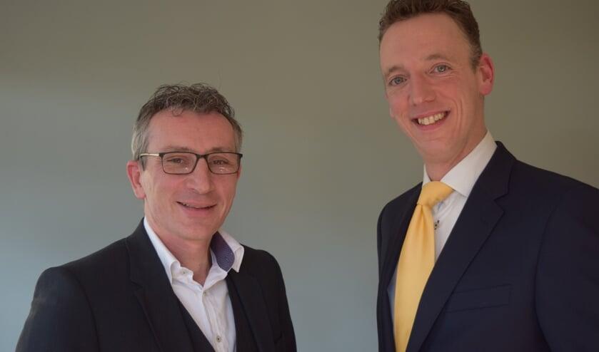 Per 1 januari nam Huiting Uitvaartverzorging het bedrijf Adcura over: links Daniel van Utrecht en rechts Redolf Huiting.